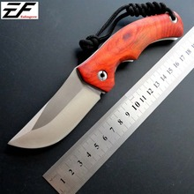 New Incoming EF02 Folding Knife Camping Hunting Knives D2 Steel Wood Handle EDC Tactical Hand Tool
