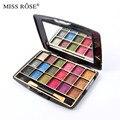 Miss Rose Paleta Set Maquiagem 18 Cores Brilho Sombra Highlighter Sombra Eye Make Up Com Escova & Espelho
