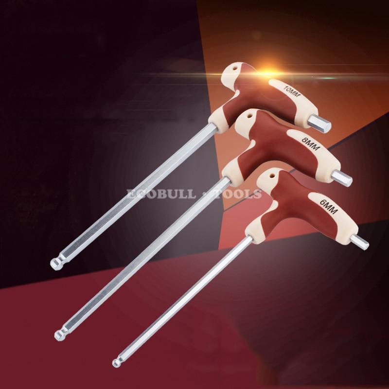LIJIAN t rankenos šešiabriaunis veržliaraktis T tipo rankena, - Rankiniai įrankiai - Nuotrauka 2
