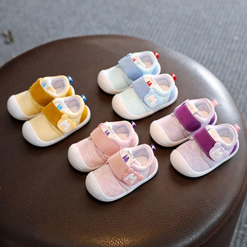 2018 Printemps Infant Toddler Chaussures Haute Qualité Bébé Filles Garçons Chaussures Confortable Coton Non-slip Bébés Enfants Premiers Marcheurs chaussures