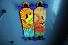 Free shipping Promotion Double wraped roller skate longboard 9 ply canadian maple trucks skateboard 2012 hot sale