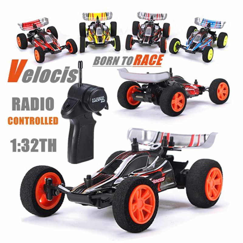 Velocis RC coche 1/32 modelo todoterreno vehículo juguete 2,4G Mutiplayer en paralelo 4CH opera Edición de carga USB bigfoot coche de Fórmula