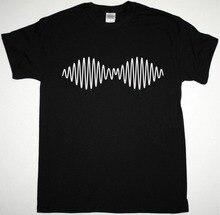 Custom Shirt Printing Short Sleeve Printed Crew Neck Mens Simple Arctic Monkeys Black Oscilloscope Indie Rock The Strokes  Tee