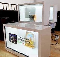 Торговый центр сенсорный интерактивный прозрачный ЖК-дисплей цифровой рекламный киоск с ПК компьютер встроенный
