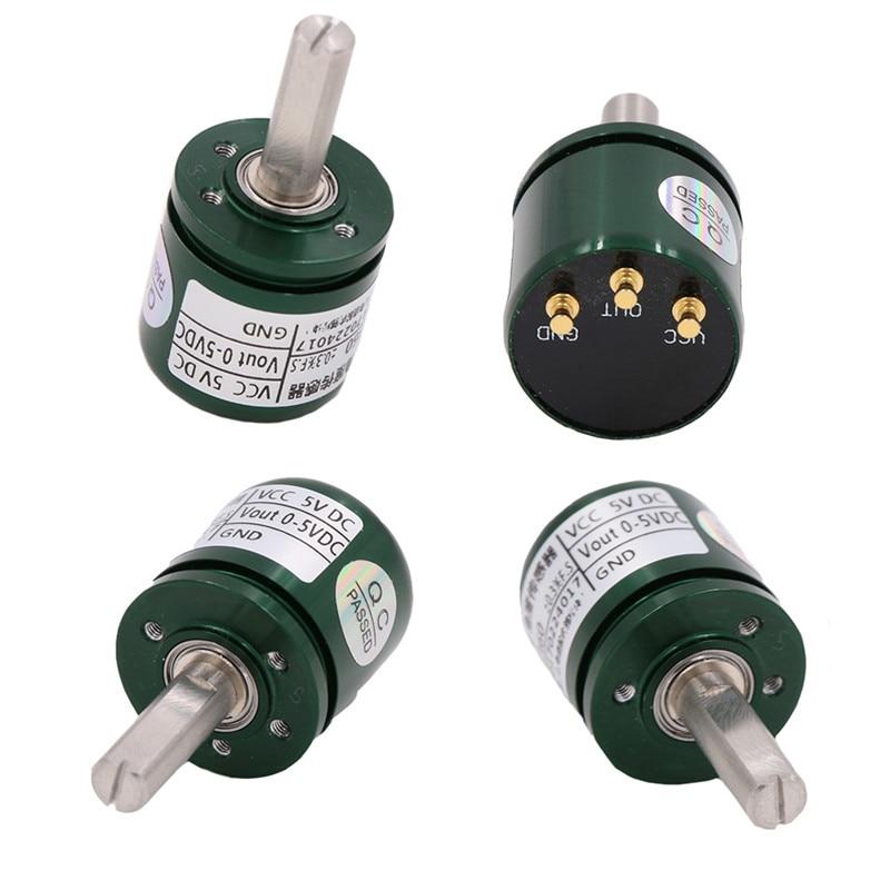 10Pcs Hall Angle Sensor Non Contact Industrial 0 360 Degree Rotation Angular Displacement Sensor DC 5V