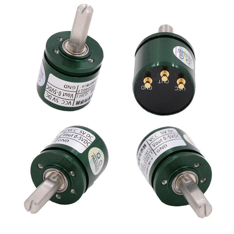 10 pièces capteur d'angle Hall sans Contact industriel 0-360 degrés Rotation capteur de déplacement angulaire DC 5 V