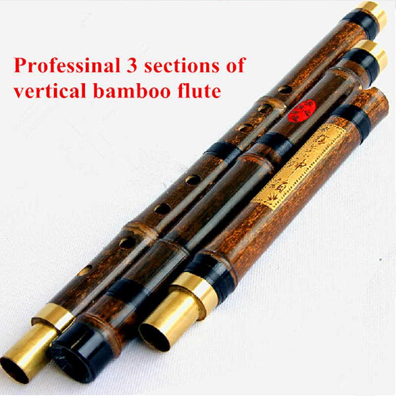 Strumento a Fiato Flauto Hulusi Cinese di Bamboo a 3 Ottavi #105 Custodia Guida per come suonare