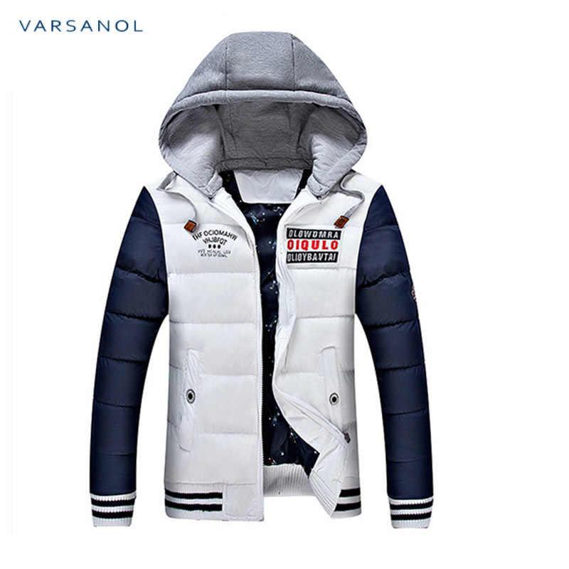Varsanol зимние мужские s куртки повседневные новые с капюшоном толстые мягкие мужские парки куртки пальто теплая молния тонкие Топы Верхняя одежда 3xl
