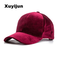 Baseball Caps With No Embroidery Strap Simple Suede Back Outdoor Cap And Hat For Men And