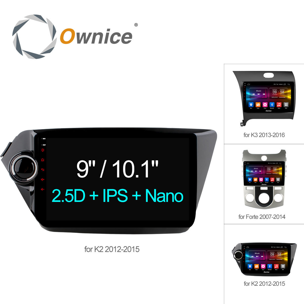 Ownice C500+ Android 6.0 Octa 8 Core car radio player GPS navi DVD for Kia k2 K3 Forte 2012 2G RAM 32G ROM Support 4G LTE DAB+