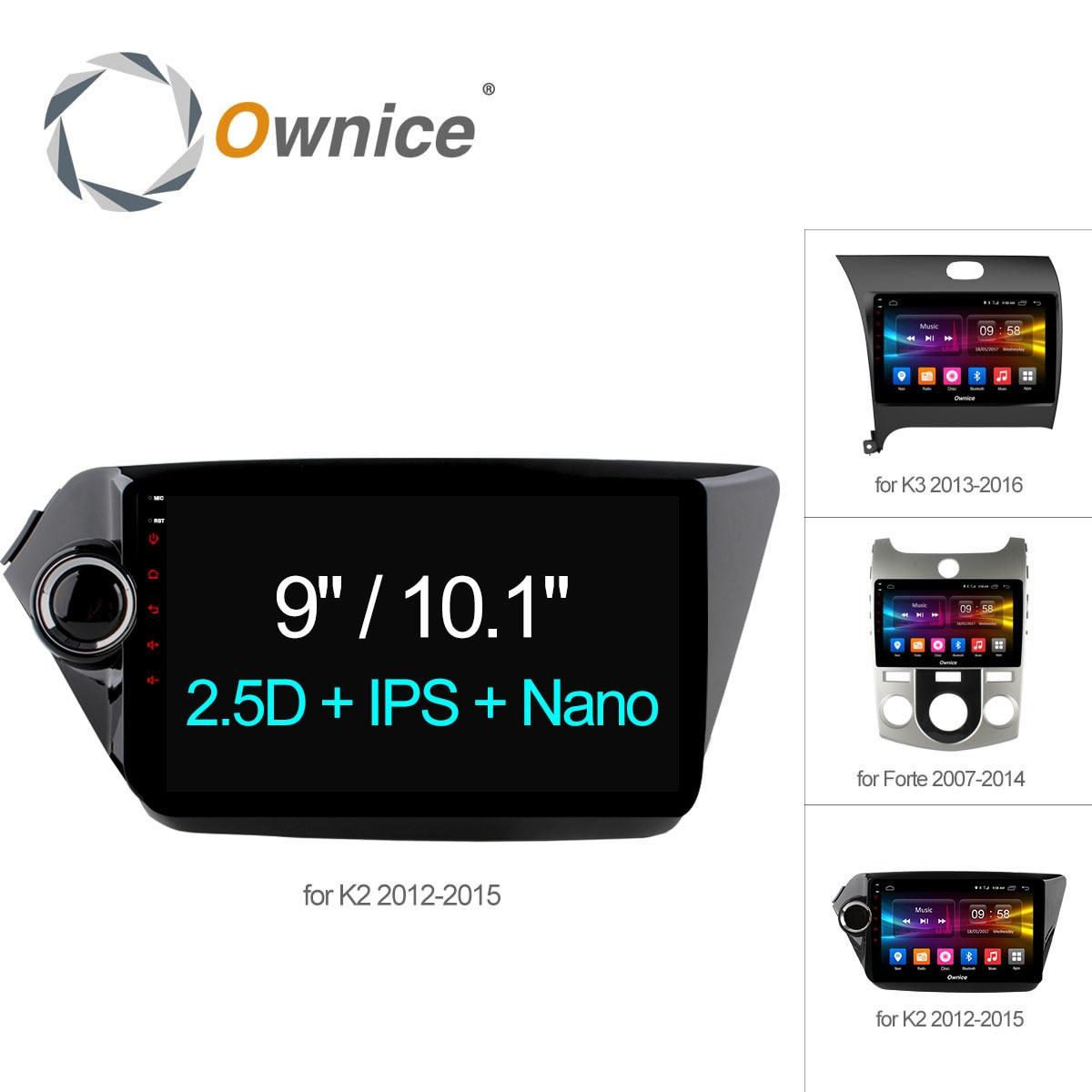 Ownice C500 + Android 6.0 Octa 8 Núcleo jogador rádio do carro GPS navi DVD para Kia k2 K3 Forte 2012 2G RAM 32G Apoio ROM 4G LTE DAB +