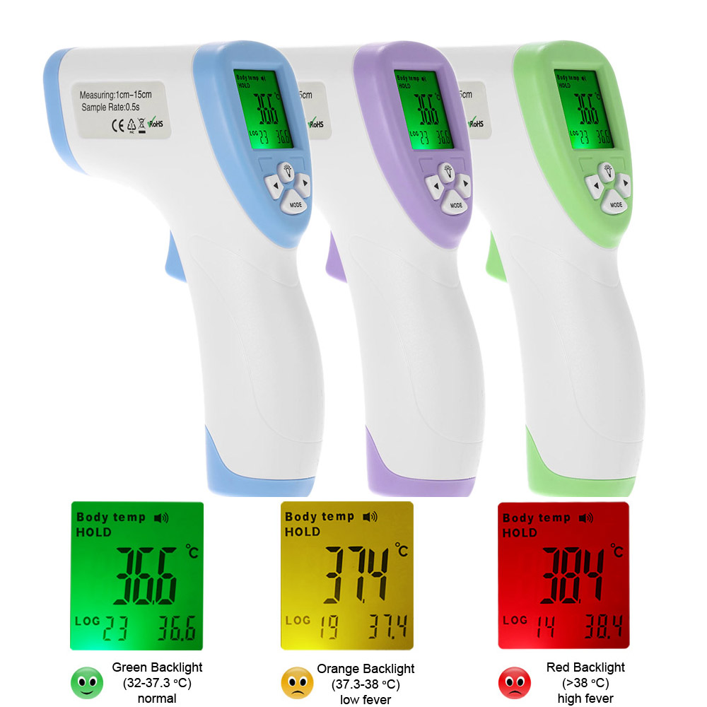 New Infrared Baby Children Adult Forehead Non-contact Infrared Thermometer LCD Backlight Thermometer
