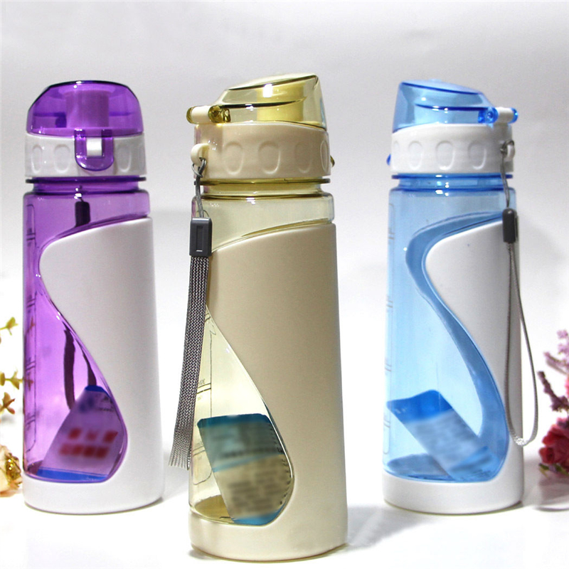 High Quality! 700ml Water Bottle Outdoor Sports Health Flesh Fruit Lemon Juice Drinking Bottle With Strap School Drinkware-in Water Bottles from Home & Garden on AliExpress