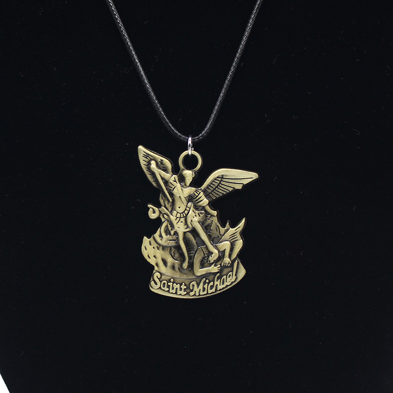 Newest bible angel saint michael pendant stmichael pray for us newest bible angel saint michael pendant stmichael pray for us pendants necklaces 3d archangel angel wings jesus necklace in pendant necklaces from aloadofball Gallery