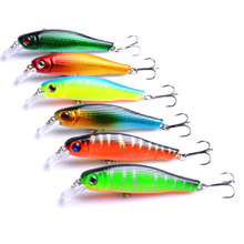 100pcs Minnow Fishing Tackle Carp Fishing Lure 8.5cm 8.9g 3D Eyes Lifelike Wobbler Minnow Bait with Treble Hooks lifelike fish style fishing bait w treble hooks green golden