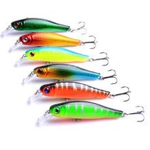 100pcs Minnow Fishing Tackle Carp Lure 8.5cm 8.9g 3D Eyes Lifelike Wobbler Bait with Treble Hooks