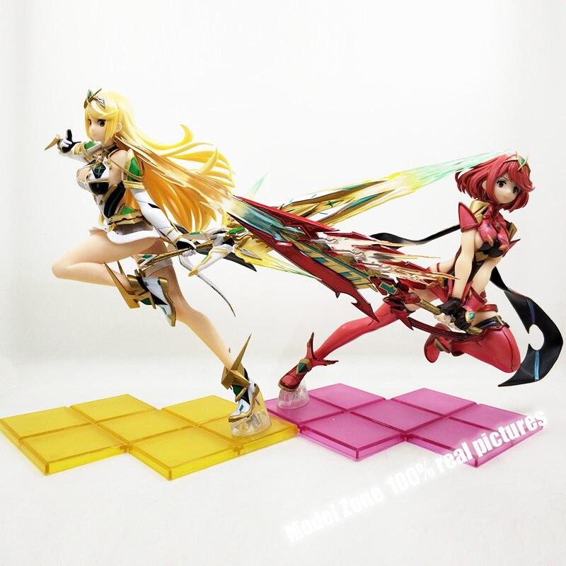 1 7 Anime Action Figure Xenoblade 2 Chronicles Game Fate Over Pyra Hikari Fighting Ver Pvc