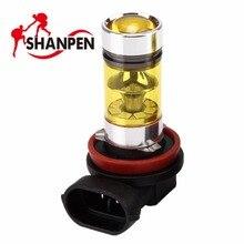 2PCS CAR LED 4300K Yellow H11 H8 H9 Fog Light SAMSUNG 3030 LED 100W Driving Projector DRL Bulbs