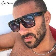 Flat Top Sunglasses Mens Brand Designer