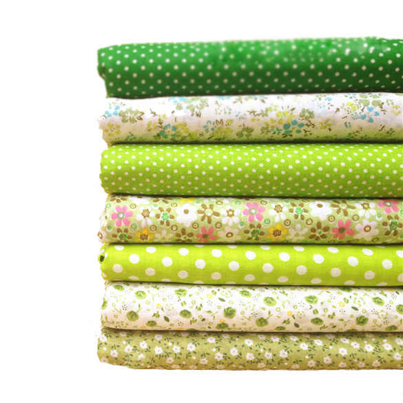 FUNIQUE 7PCs Cotton Fabric Handmade Sewing Home Decor Material Fabrics For Patchwork Curtains Felt For Needlework DIY 25x25cm