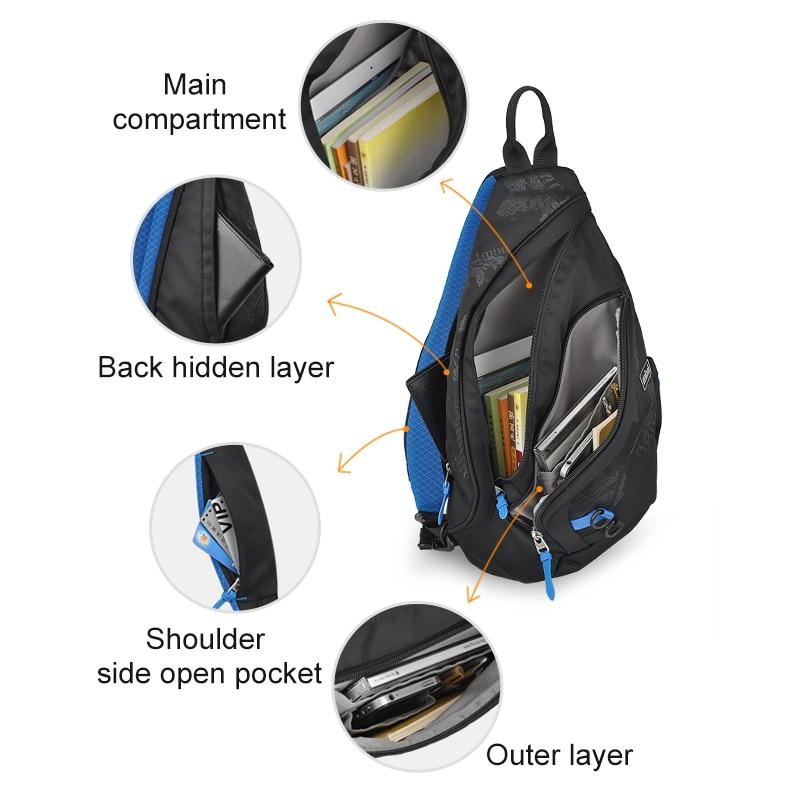 Image 4 - Mixi 2020 Fashion Backpack for Men One Shoulder Chest Bag Male Messenger Boys College School Bag Travel Causal Black 17 19 inchBackpacks   -