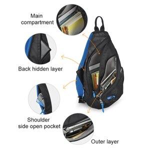Image 4 - Mixi 2020 модный рюкзак для мужчин на одно плечо, нагрудная сумка, мужская сумка мессенджер для мальчиков, школьная сумка для учебы, повседневная черная 17 19 дюймов