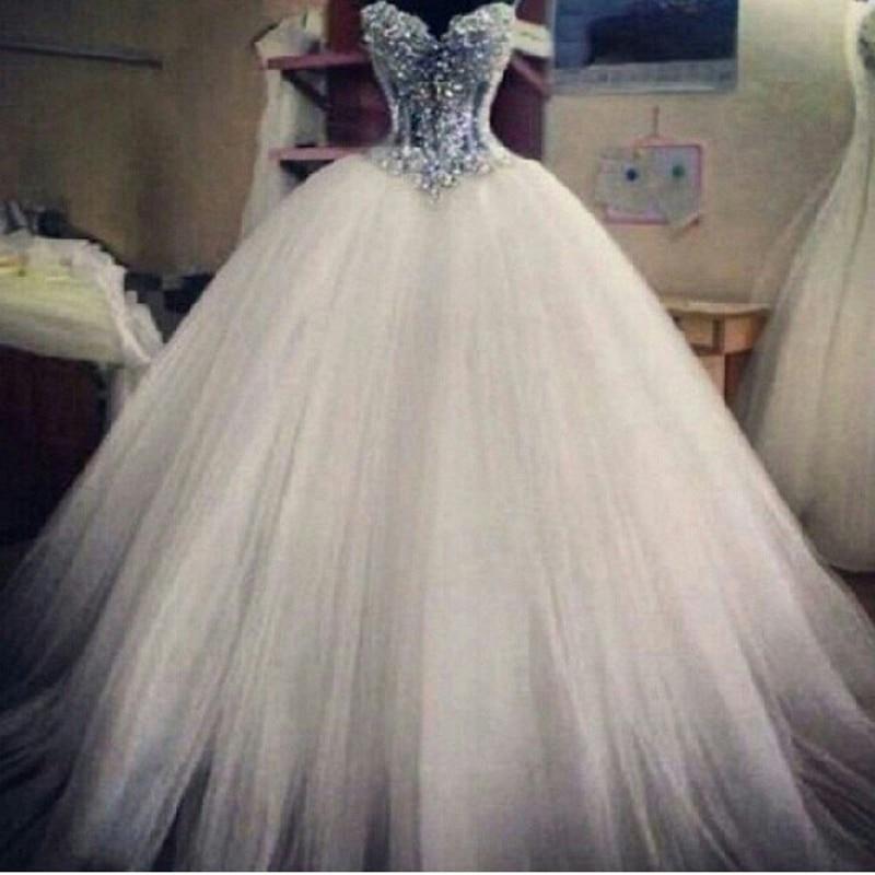 Puffy Wedding Dresses 2017 with Pearls Princess VESTIDOS DE NOIVAS ...