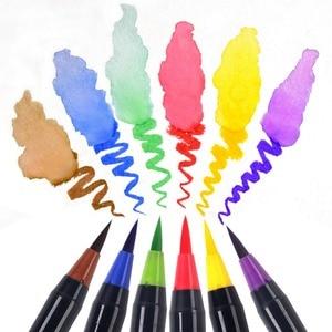 Image 2 - 20 لون قسط اللوحة فرشاة لينة مجموعة أقلام الألوان المائية علامات القلم تأثير أفضل لتلوين كتب المانجا الخط الهزلي