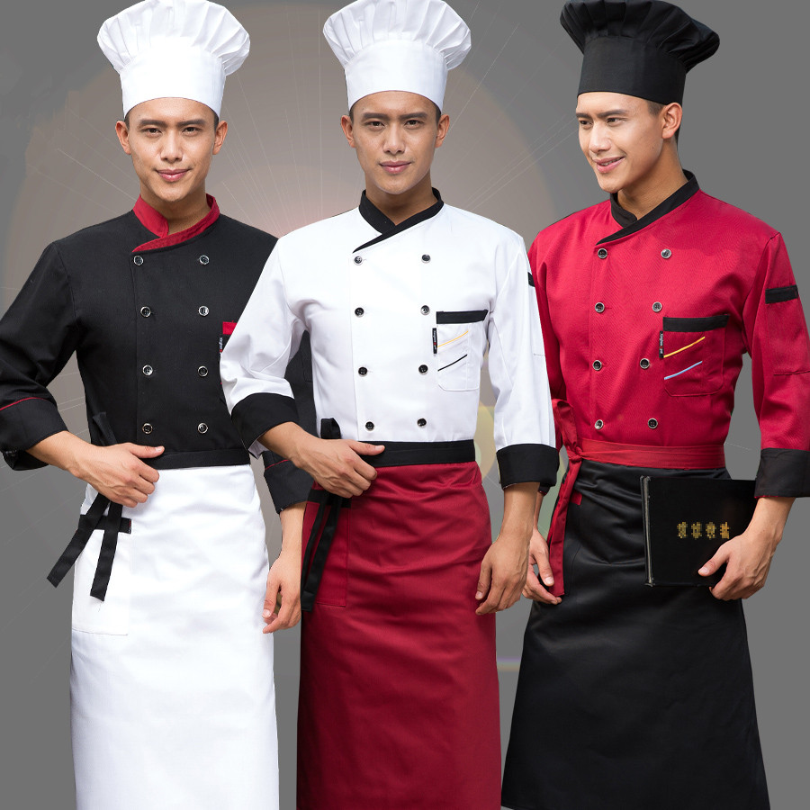 New arrival Long sleeved autumn hotel chef uniform chef jacket wear double breasted chef clothing men