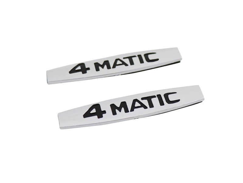 2 pièces Auto voiture chrome 4 Matic 4 Matic pour 220 817 08 15 Classe S Coffre Emblème Autocollant