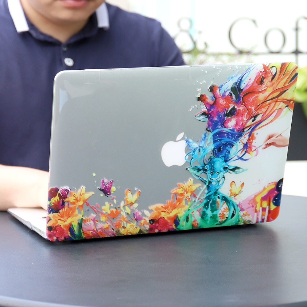 Floral Printing Hard Case for MacBook 101