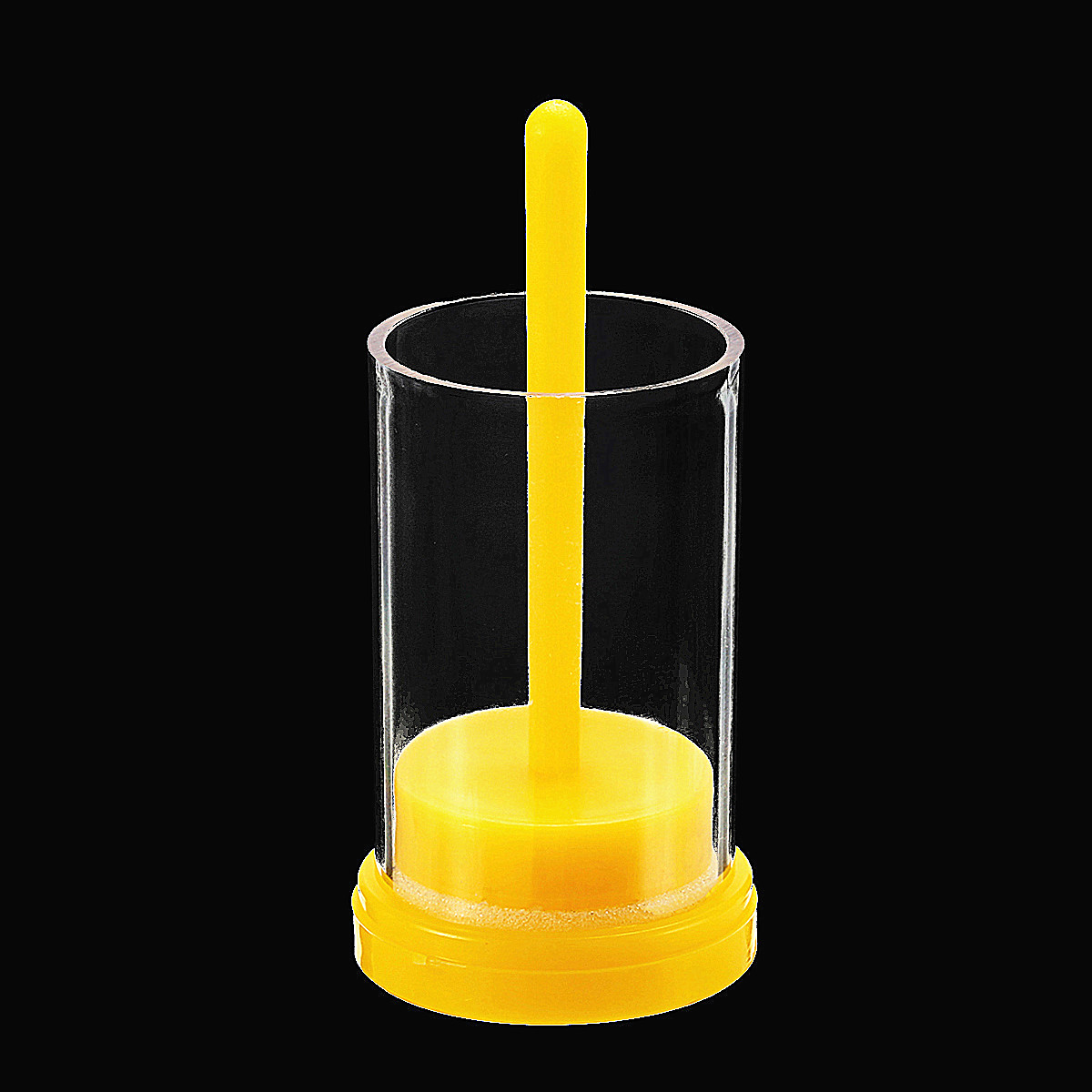 Bee Marking Cage Plastic Bee Marking Bottle Queen Bee Marking Cage Marker Bottle w/ Plunger Beekeeping Equipment