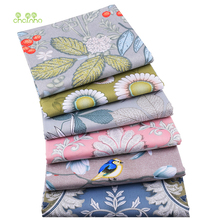 Chainho,Floral Series, 6pcs/Lot,Printed Twill Cotton Satin Fabric,Patchwork Cloth,DIY Sewing Quilting Material For Baby&Children