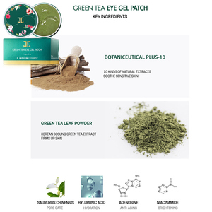 Image 4 - JAYJUN ירוק תה/Roselle הידרוג ל עין ג ל תיקון תחת מסכת עיניים נגד קמטים להסיר Finelines כהה מעגל להאיר 60 PCS