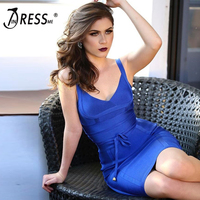 INDRESSME 2018 Women's New Fashion Sexy Deep V Lace Up Sashes Party Bandage Dress Sexy Spaghetti Strap Backless Summer Dress