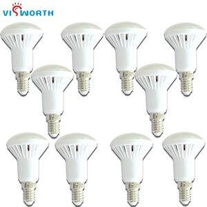 Image 1 - VisWorth (10 шт./лот) R50 Светодиодная лампа E14 хрустальная лампа Smd5730 AC 110V 220V 240V лампада холодный теплый белый для украшения дома