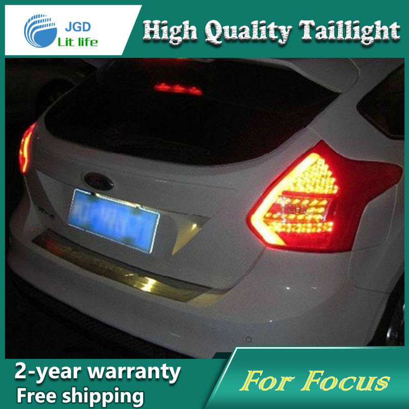 Car Styling Tail Lamp for ford focus 2012 2013 2014 Tail Lights LED Tail Light Rear Lamp LED DRL+Brake+Park+Signal Stop Lamp one stop shopping styling for ix45 led tail lights 2014 new santa fe ix45 tail light rear lamp drl brake park signal