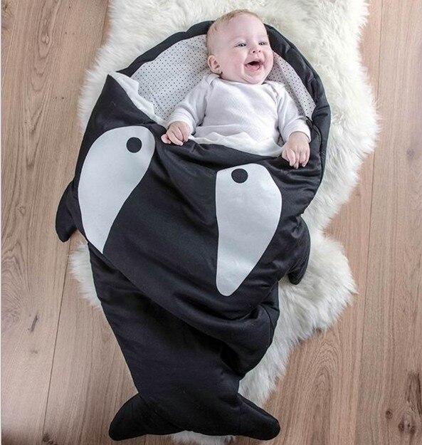 Акция! детские акула спальный мешок Новорожденных спальный мешок Зимние Коляски Кровать Пеленальный Одеяло Обертывание
