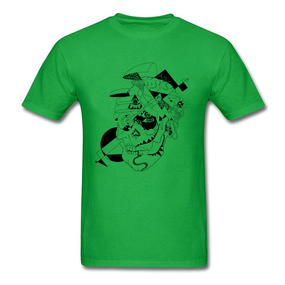 Simple Style Short Sleeve Tops Shirts Thanksgiving Day Discount O-Neck Cotton Fabric Tee-Shirts Men's T Shirt Open your mind! Open your mind! green