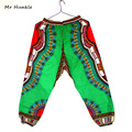 Nuevo Diseño Africano Tradicional de Impresión 100% Algodón Pantalones hasta Los Tobillos Pantalón Dashiki Para Unisex