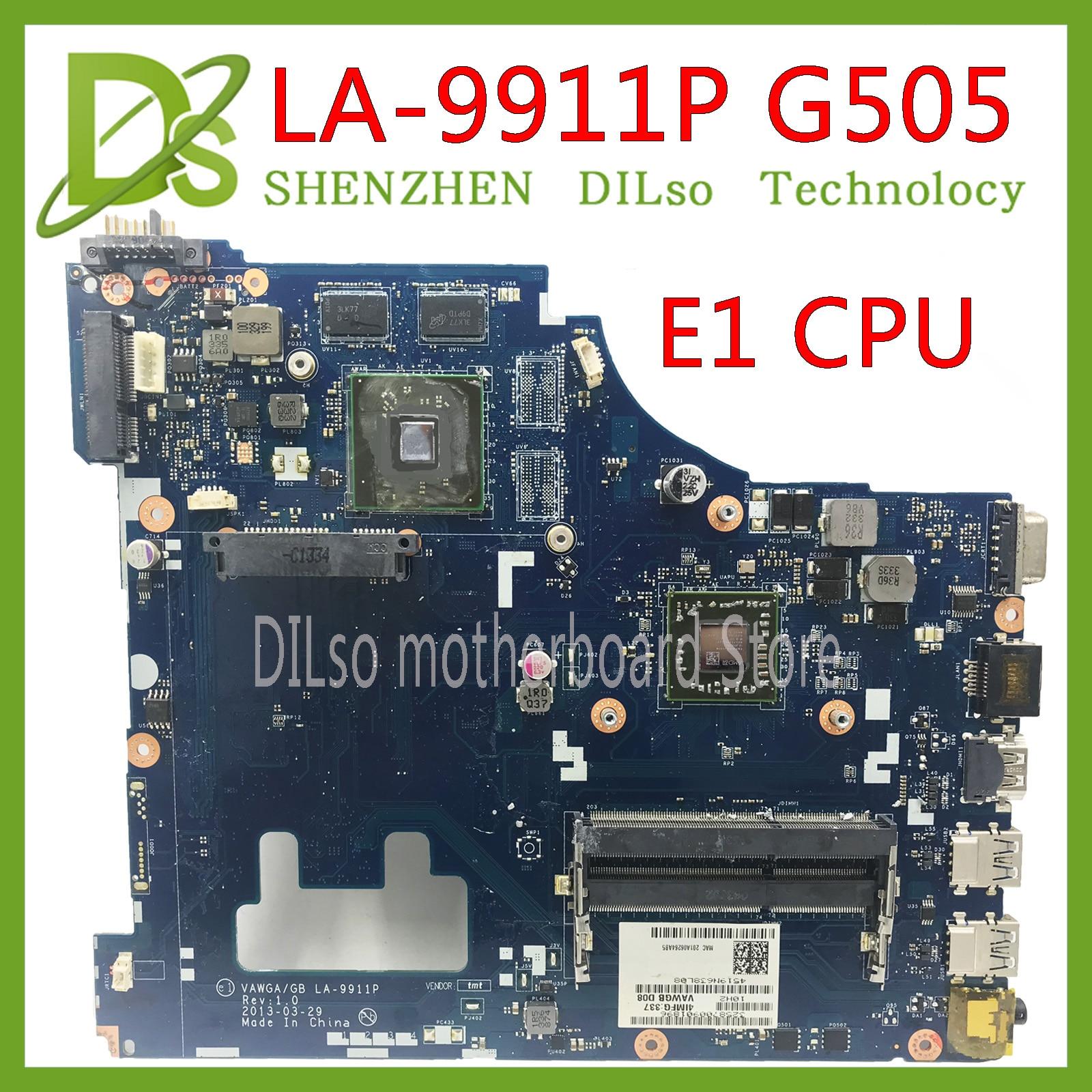 KEFU G505 VAWGA/GB la-9911p E1 LA-9911P motherboard para lenovo g505 motherboard CPU motherboard rev: 1.0 com Teste de CPU