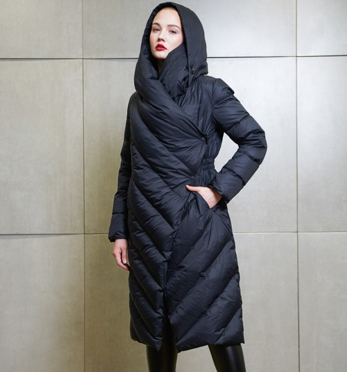 High Quality 2019 Winter New Collection Women Hooded Long   Down     Coat   Female Winter Warm Thick   Down   Jacket Feme Outwear