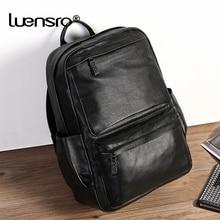 Натуральная кожа, мужской рюкзак из натуральной кожи, большая вместительность, 15,6 дюймов, рюкзак для ноутбука, мужские дорожные сумки для подростков, школьная сумка