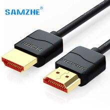 Samzhe тонкий hdmi кабель hdmi к hdmi кабель hdmi 2.0 4 К 3d для ps3 проектор hd lcd apple tv компьютерные кабели 0.5 м 1 м 1.5 м 2 м 3 м