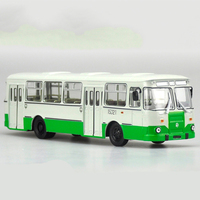 diecast wheel 1:43 Alloy Russian Bus 677M Toy Sports Car Model Of Children's Cars Original Authorized Authentic Kids Toys