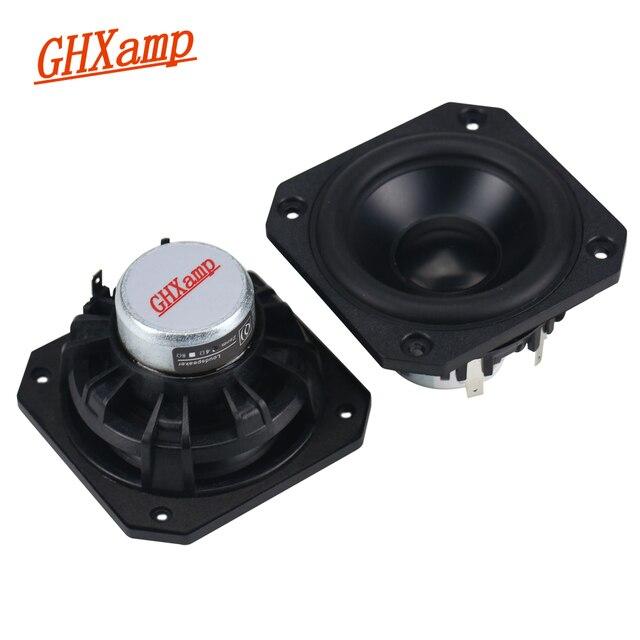 GHXAMP altavoz de gama completa de 3 pulgadas, de neodimio para coche, 4ohm, 25W, HIFI, portátil para ordenador de casa, Bluetooth, 2 uds.