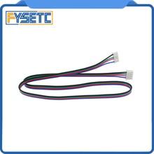 3 adet DuPont hattı HX2.54 4pin 50 cm veya 80 cm veya 100 cm için 6pin Beyaz Terminali step Motor kablosu için Step Motor 3d yaz...