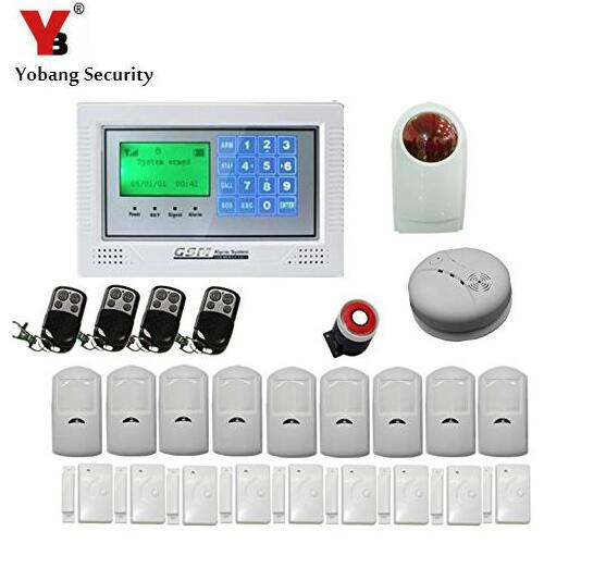Yobang Security Yobang Security Home security wireless GSM alarm system GSM network with 4 wired 100 wireless zone Burglar wireless smoke fire detector for wireless for touch keypad panel wifi gsm home security burglar voice alarm system