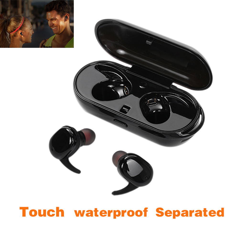 New Waterproof Mini Wireless Bluetooth V4.1 Noise Earbuds Cancelling Stereo Surround Sound Headset Earphone @JH