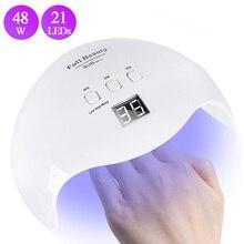 48W Nail Dryer UV Lamp 21 LEDs Sunlight Nail Lamp Drying All
